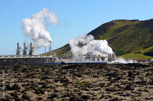 geothermal electricity generating in iceland - 350326