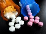 pills and vials poster