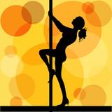 pole dancer poster