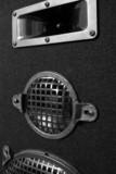 black and white speaker poster