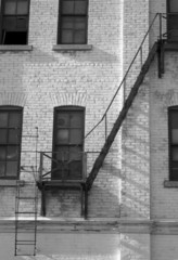 old warehouse fire escape