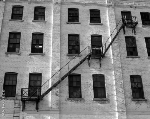 old warehouse fire escape