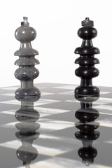 chess pieces - king and king on board