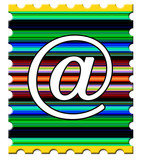 email postage stamp poster