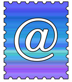 email postage stamp 150 dpi poster