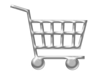 shopping cart isolated white background 150 dpi