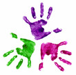 Quadro three handprints