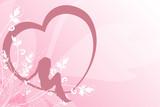 female in heart poster
