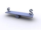 dollar vs. euro poster
