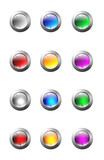 Fototapety set of glass buttons