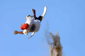 sandboard jump