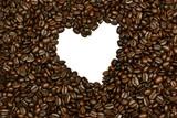 coffee bean heart poster