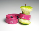 apple with tape measure poster