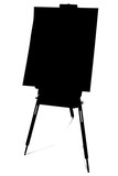 silhouette with clipping path of art easel poster
