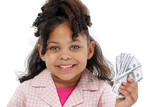 adorable little girl and money poster