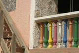colorful porch posts poster