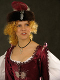 girl in polish clothes of 17 century poster