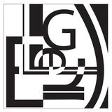 typography l-e-g-e-r collage poster