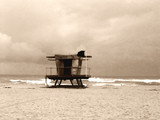 stormy lifeguard tower poster