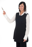 pointing businesswoman poster