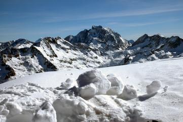 vignemale et boules de neige - pn 72x108