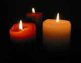 burning candles poster