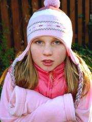 girl shivering