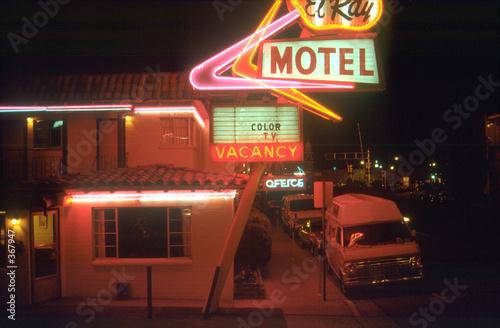 Leinwanddruck Bild night motel 02