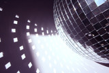 glitterball and light shapes