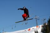 saut ski poster