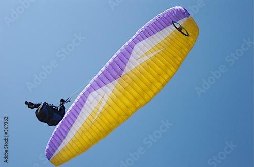 Deurstickers Luchtsport parapente vue de dessous