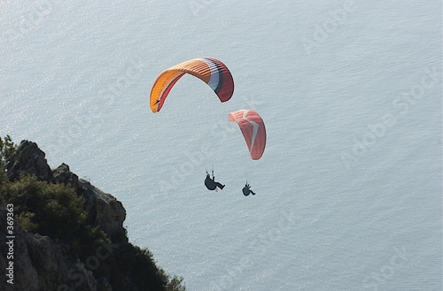 Deurstickers Luchtsport parapente 3