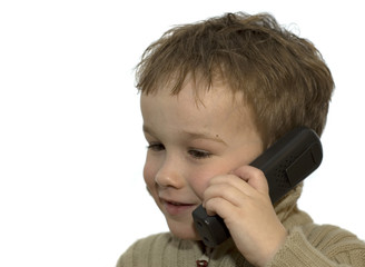 young boy on phone 3