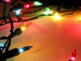 christmas lights frame poster