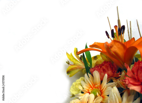 bouquet on white background