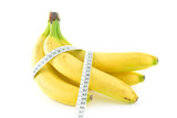 bundle of bananas with a tape measure around them poster