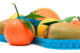 various fruit and a tape poster