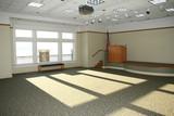 empty meeting room poster