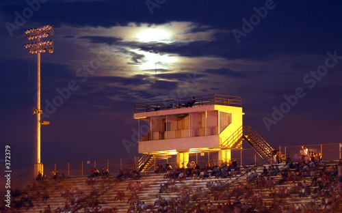 night time bleachers