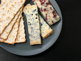 blue cheese and crackers poster
