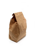 lunch paper bag brown poster