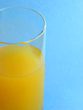 orange juice tall glass poster