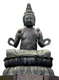 buddha statue in tokyo poster
