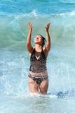 splashing woman poster