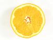 ripe orange half
