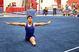 gymnast on floor poster