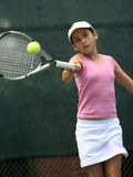 girl playing tennis poster