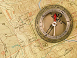 4wd, topo map , compass poster