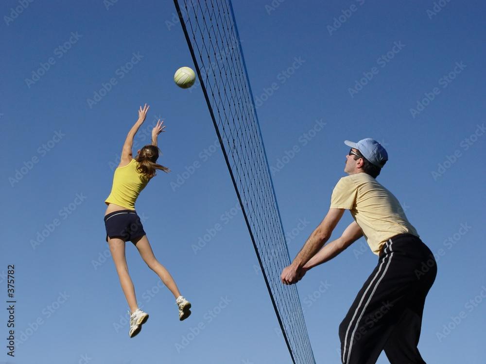 kobieta grać siatkówka - powiększenie