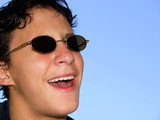 boy in sunglasses poster